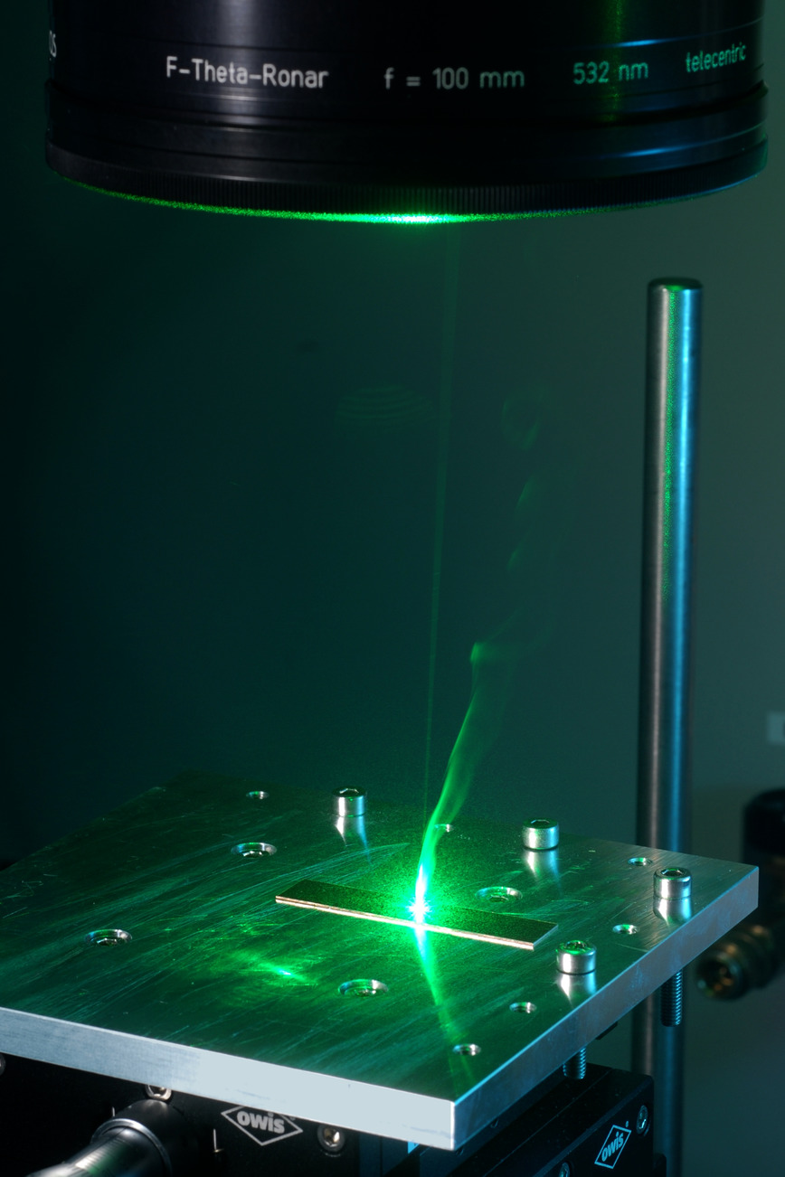 Logo Mikrofügen mit Laserstrahlung
