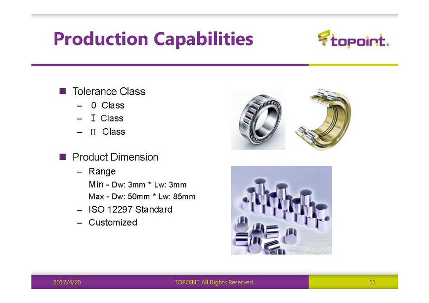 Logo Logarithmic Cylindrical Rollers