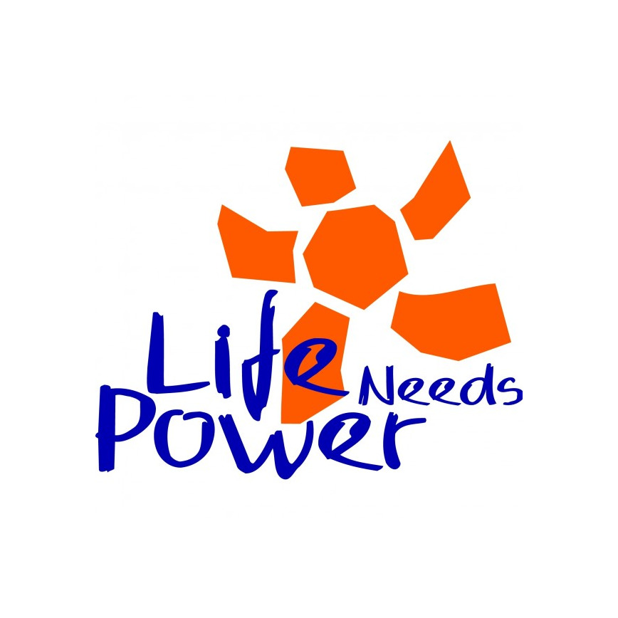 Logo Life Needs Power Halle 13 D30