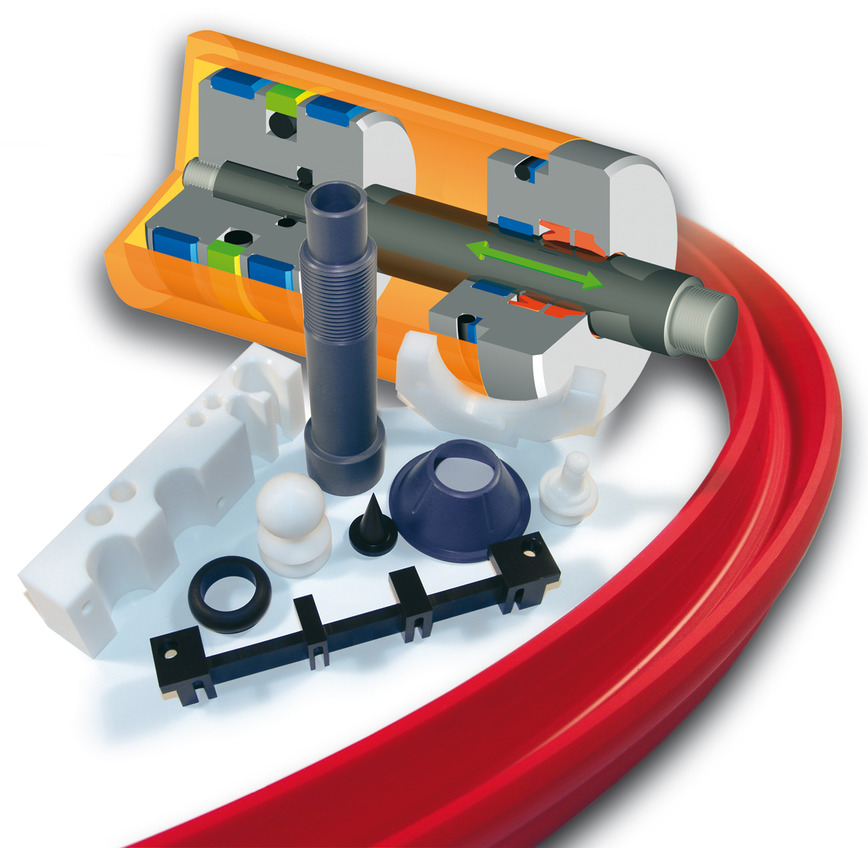Logo industrial plastics and sealing parts