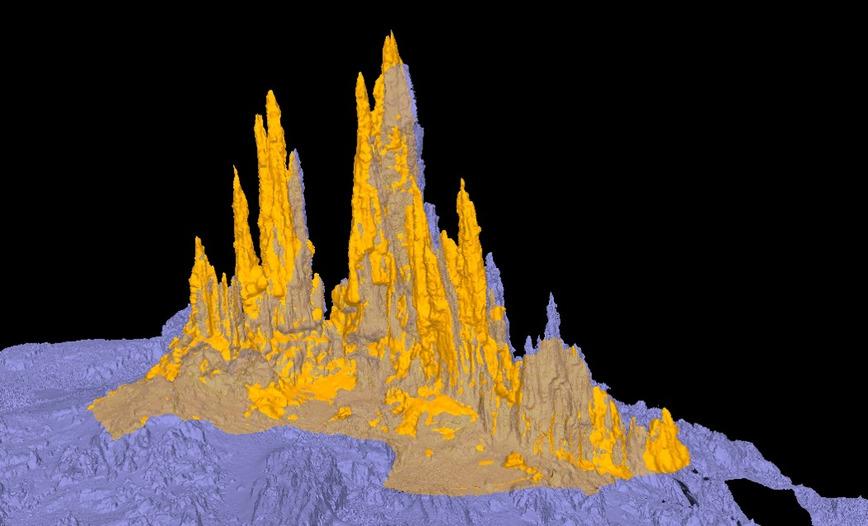 Logo 3D reconstruction in the deep sea