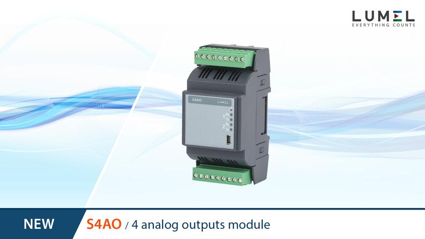 Logo S4AO - module of 4 analog outputs