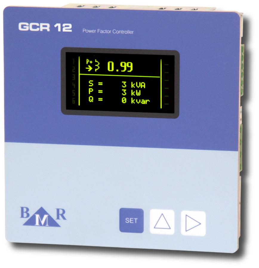 Logo GCR06 and GCR12 power factor controller