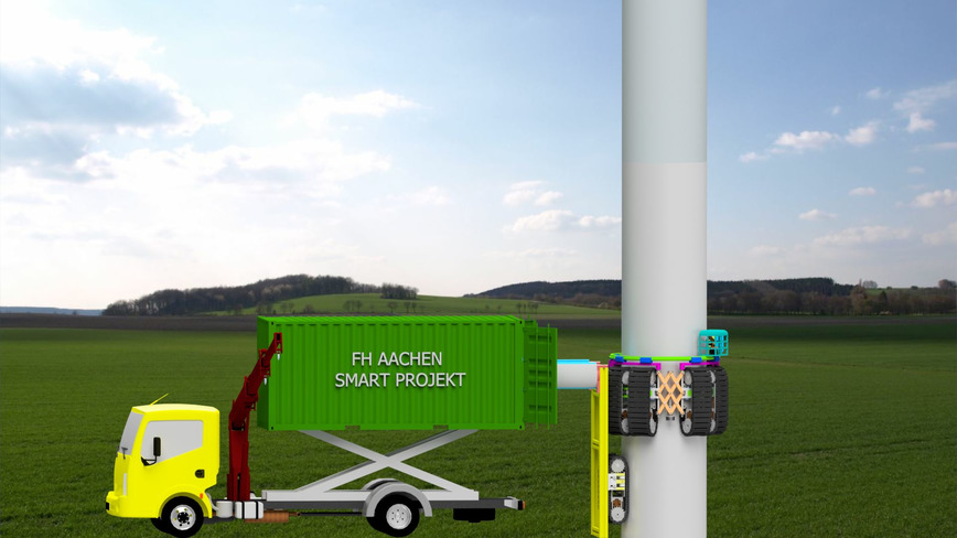 Logo Kletterroboter für Windkraft-Service