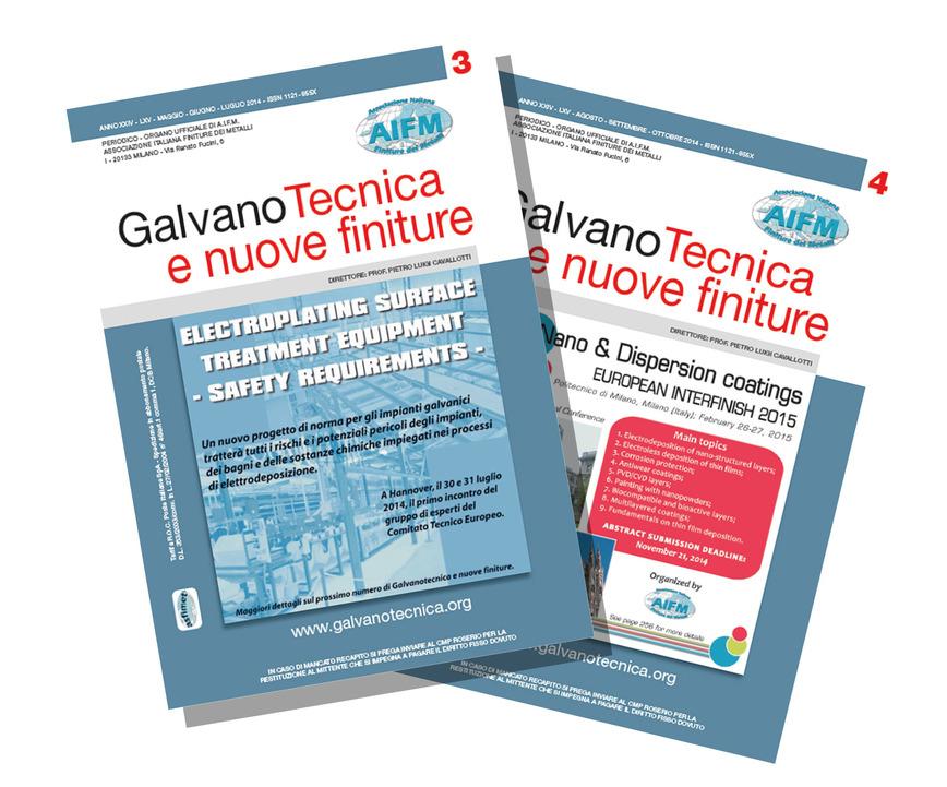 Logo Galvanotecnica e nuove finiture Magazine
