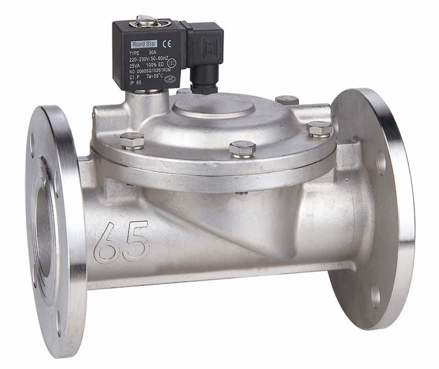 Logo DFD pilot operated water solenoid valve