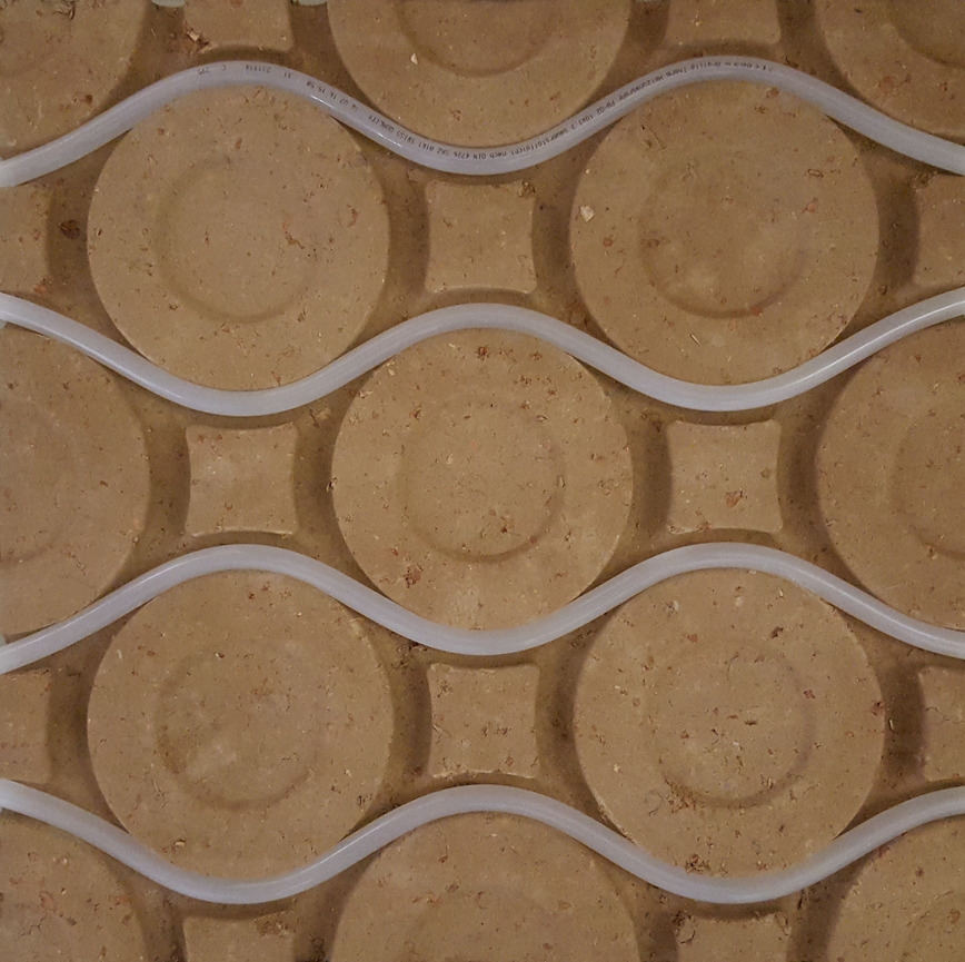 Logo clay surface-heating technology