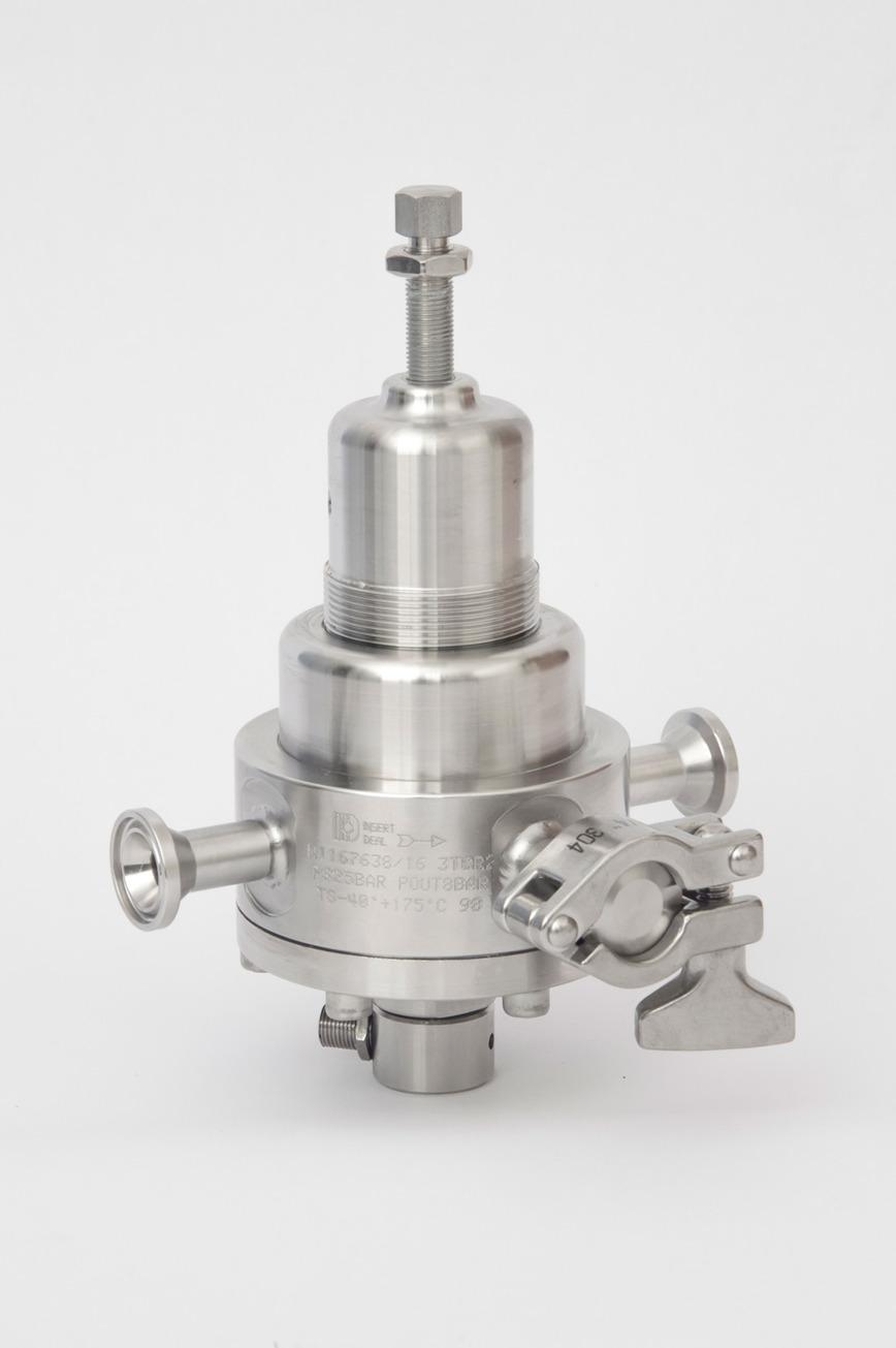 Logo TRI CLAMP Pressure regulator