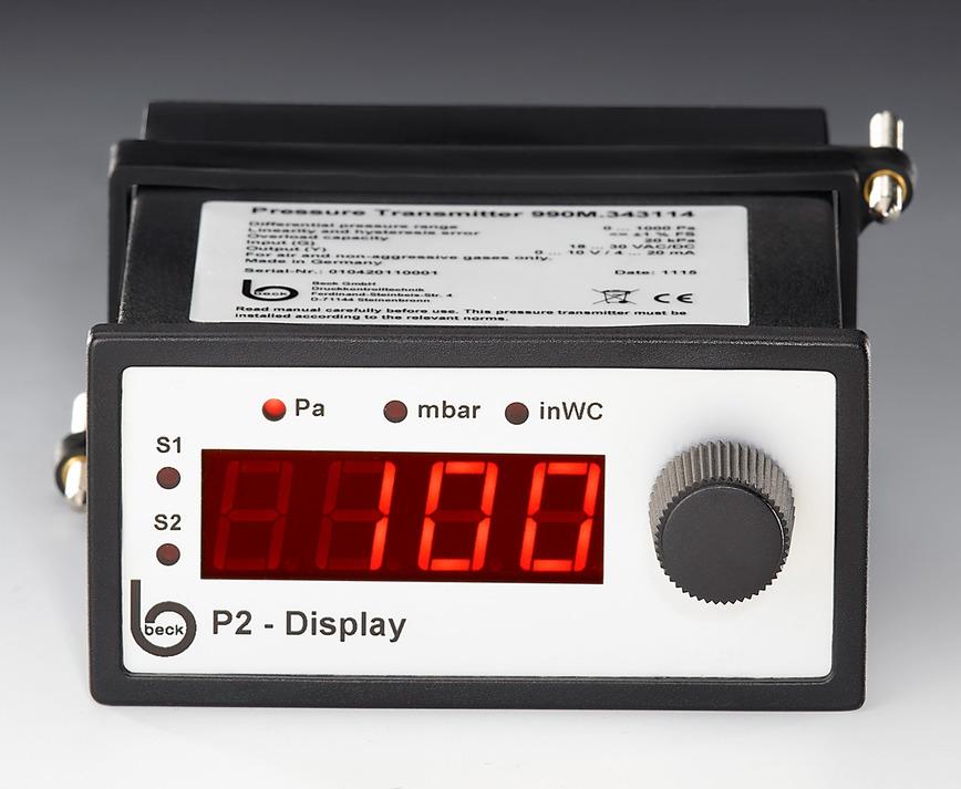 Logo Differenzdruck-Manometer Display P2 SensWitch® für Luftdrücke