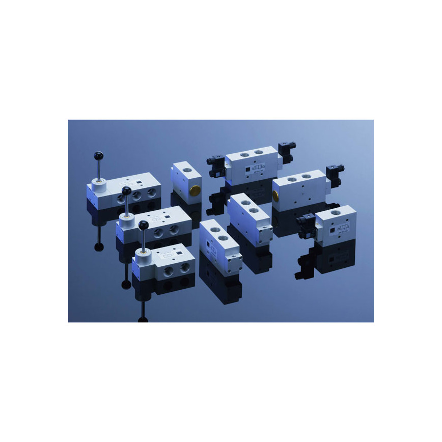"Logo Flow Monsters: Spool-valves in size G 3/4"" - Air-flow 6.000 l/min"
