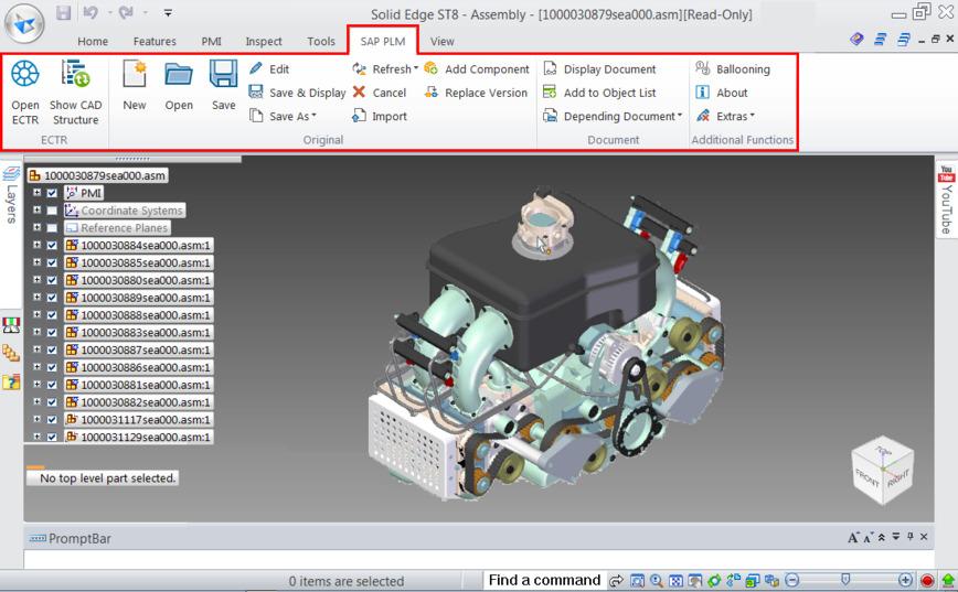 Logo SAP Engineering Control Center interface