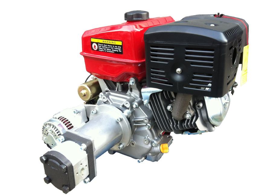 Logo Benzinmotor m. montierter Hydraulikpumpe