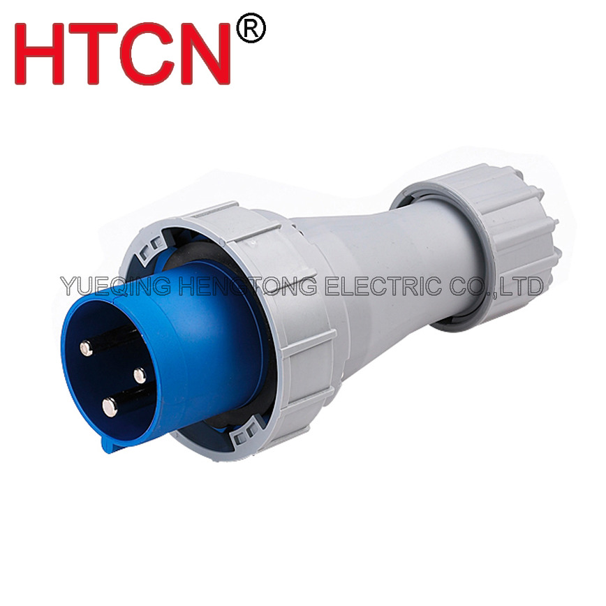 Logo cee industrial mobile plug male 63A IP67