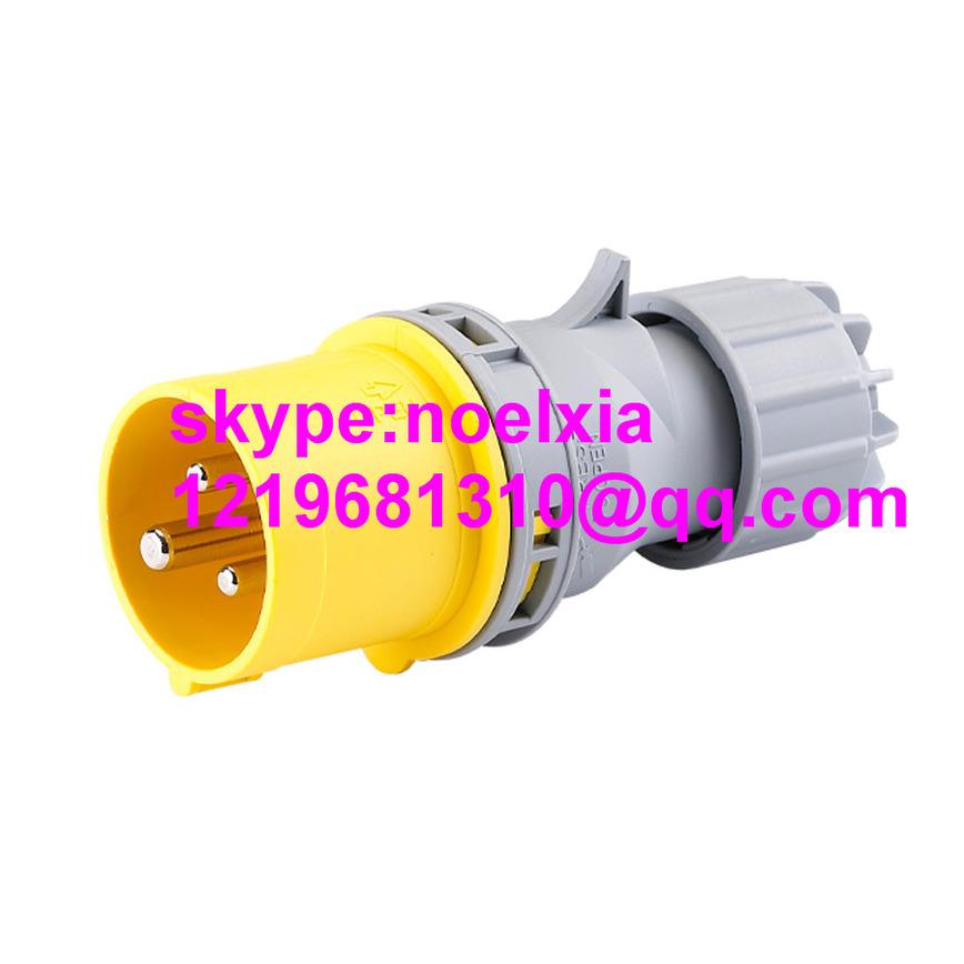 Logo power plug 32A 110V 2P+E 4H IP44