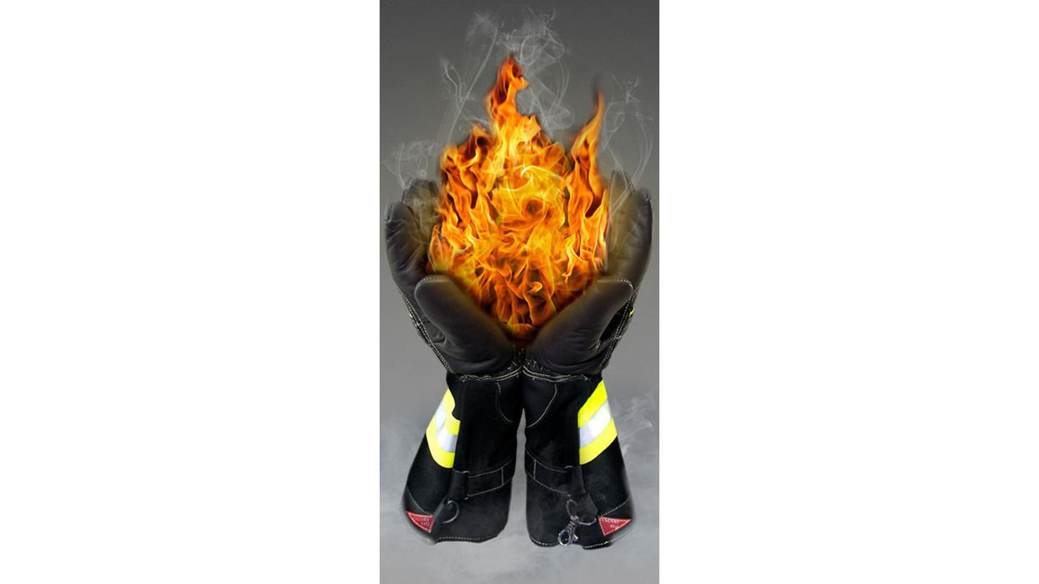 Logo firefighting gloves