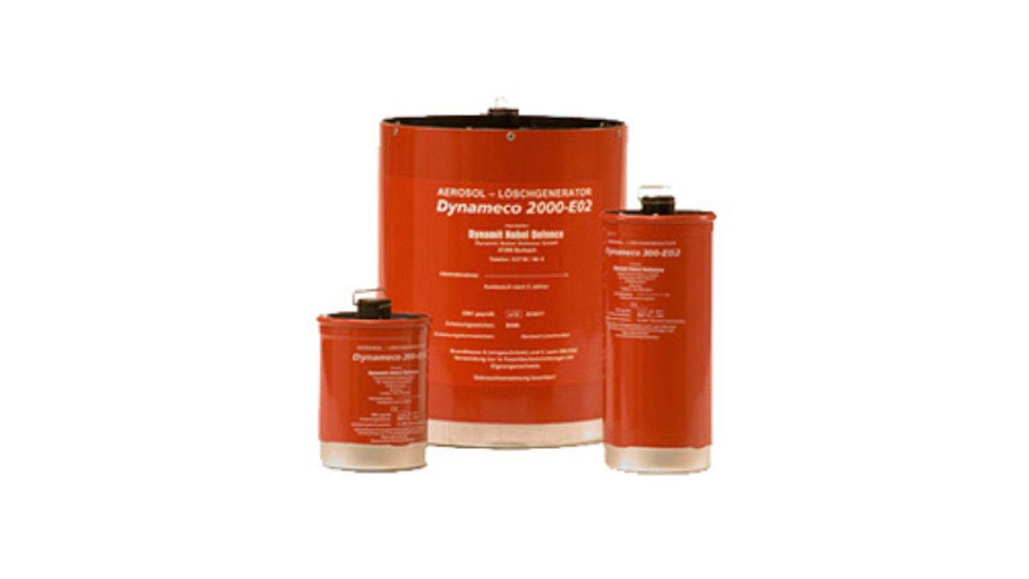 Logo Dynameco aerosol extinguishing generator