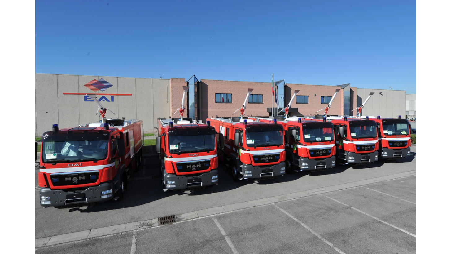 Logo BAI Industrial Fire Fighting Vehicles