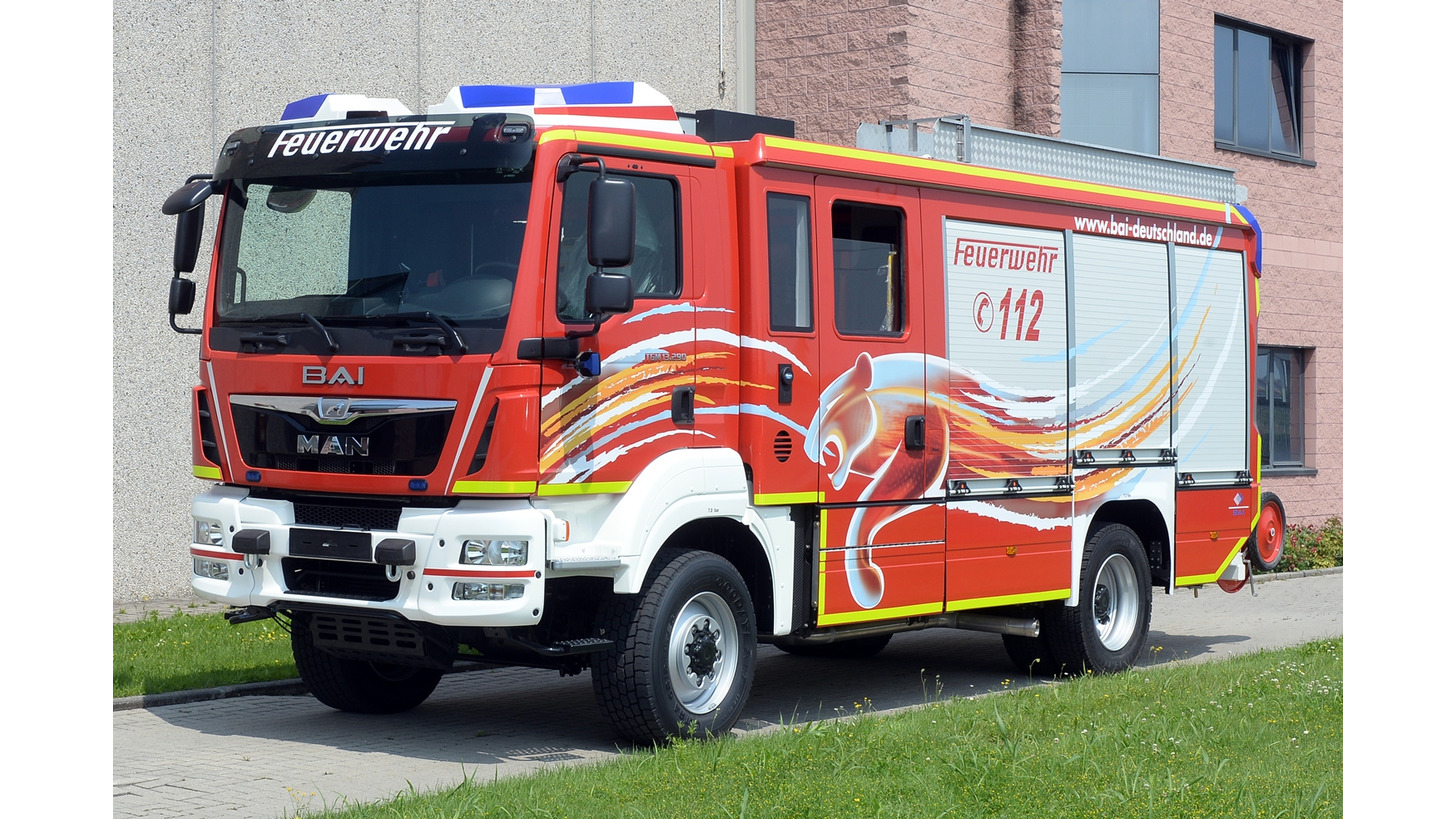 Logo BAI NEW HLF 20 Fire Truck, year 2015