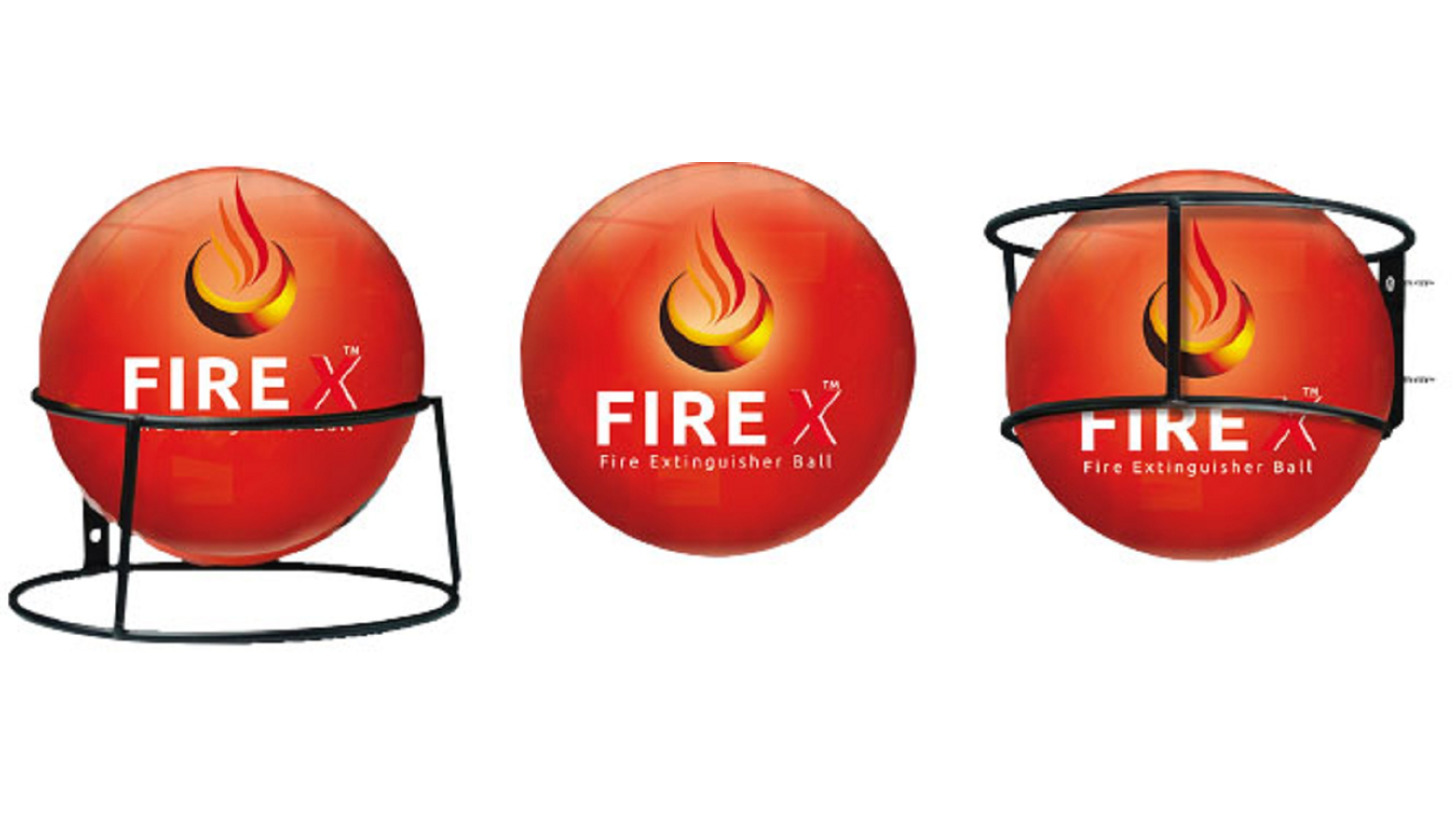Logo FIRE X Fire Exinguisher Ball