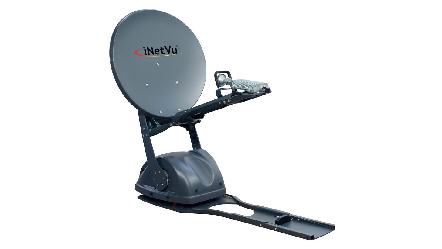Logo iNetVu® Ka- 75 V -Antrieb -Away -Antenne