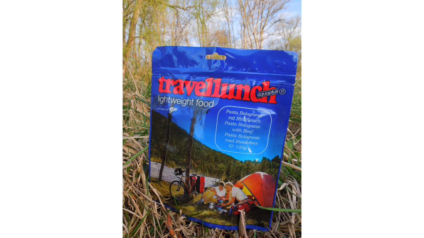 Logo travellunch - lightweight food; Instant meals for missions