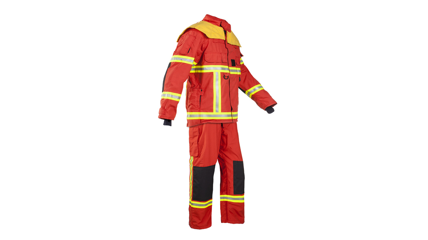 Logo New protection suit red color