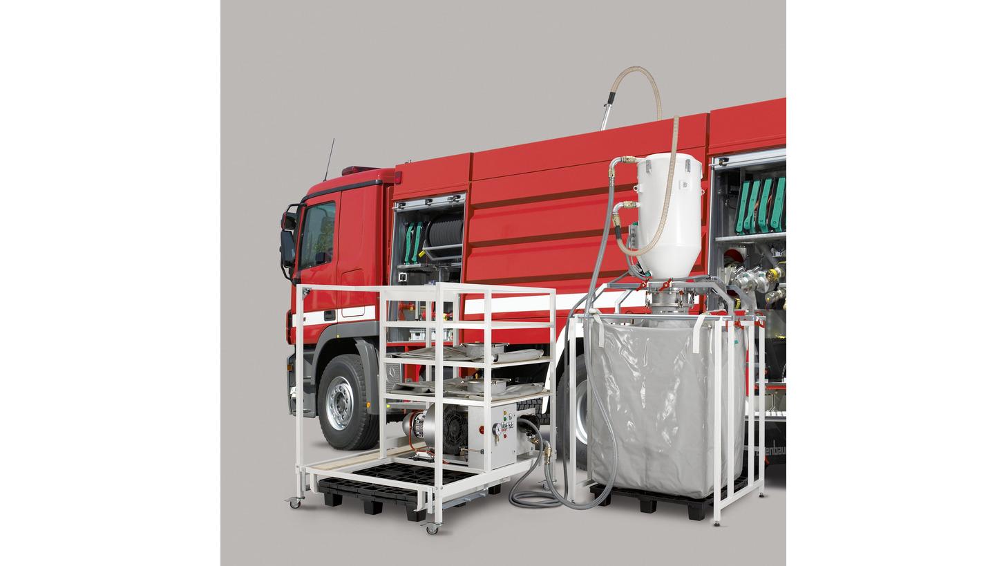 Logo Powder conveyor for extinguisher vehicle