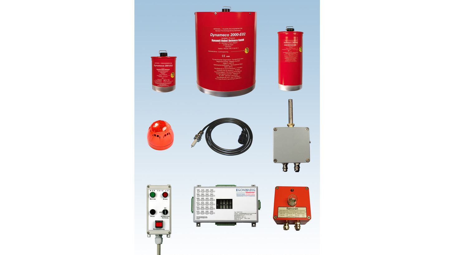 Logo Fire Detection and Extinguishing System