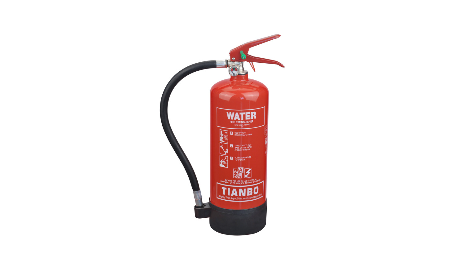 Logo water and water additive extinguisher