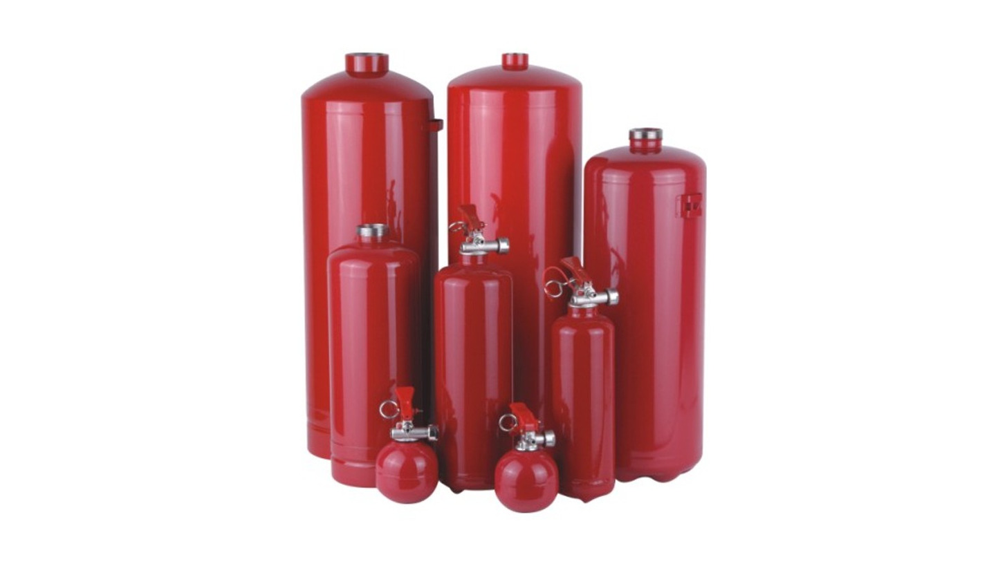 Logo Stainless Steel Fire Extingui. Cylinder