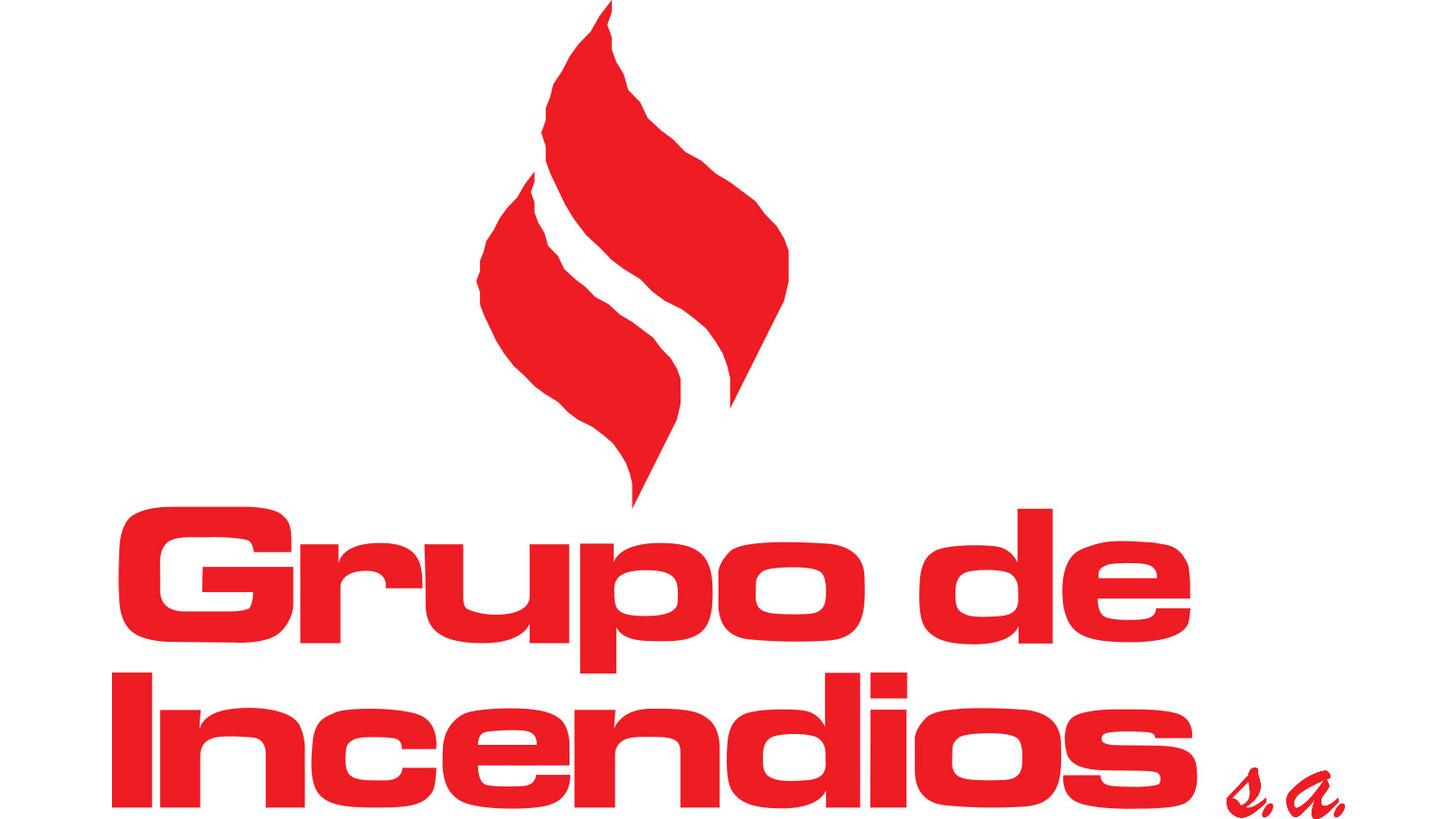 Logo fire hose reel, fire hose, extinguishers