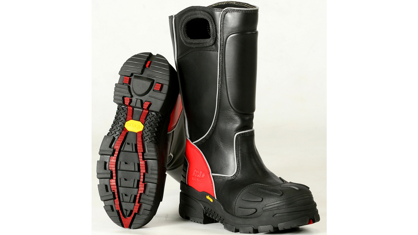 Logo FDXL100 Red Leather Boots