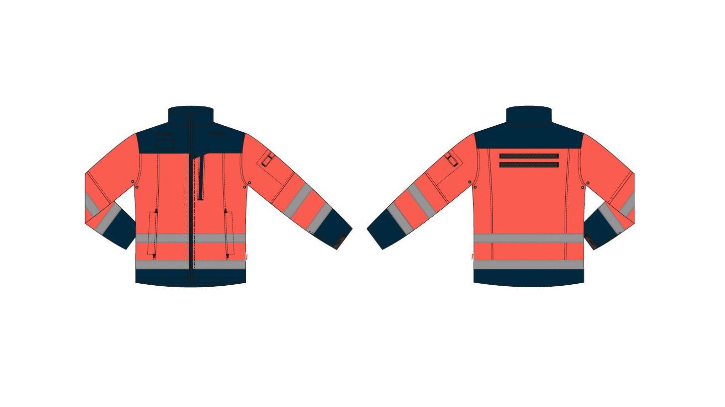Logo Jacke Softshell Herren-Rettungssanitäter