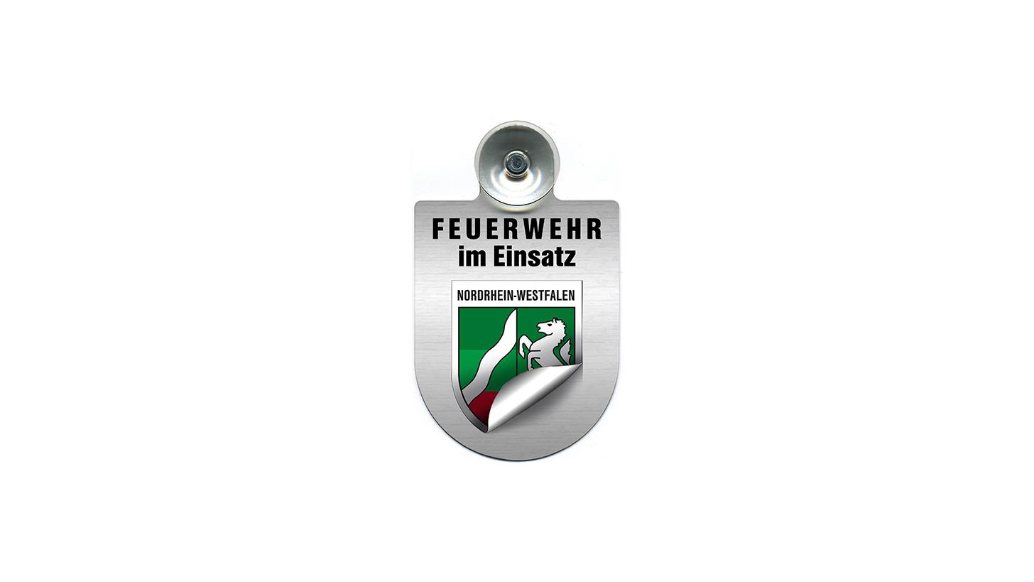 Logo Einsatzschild f. Autoscheibe Feuerwehr