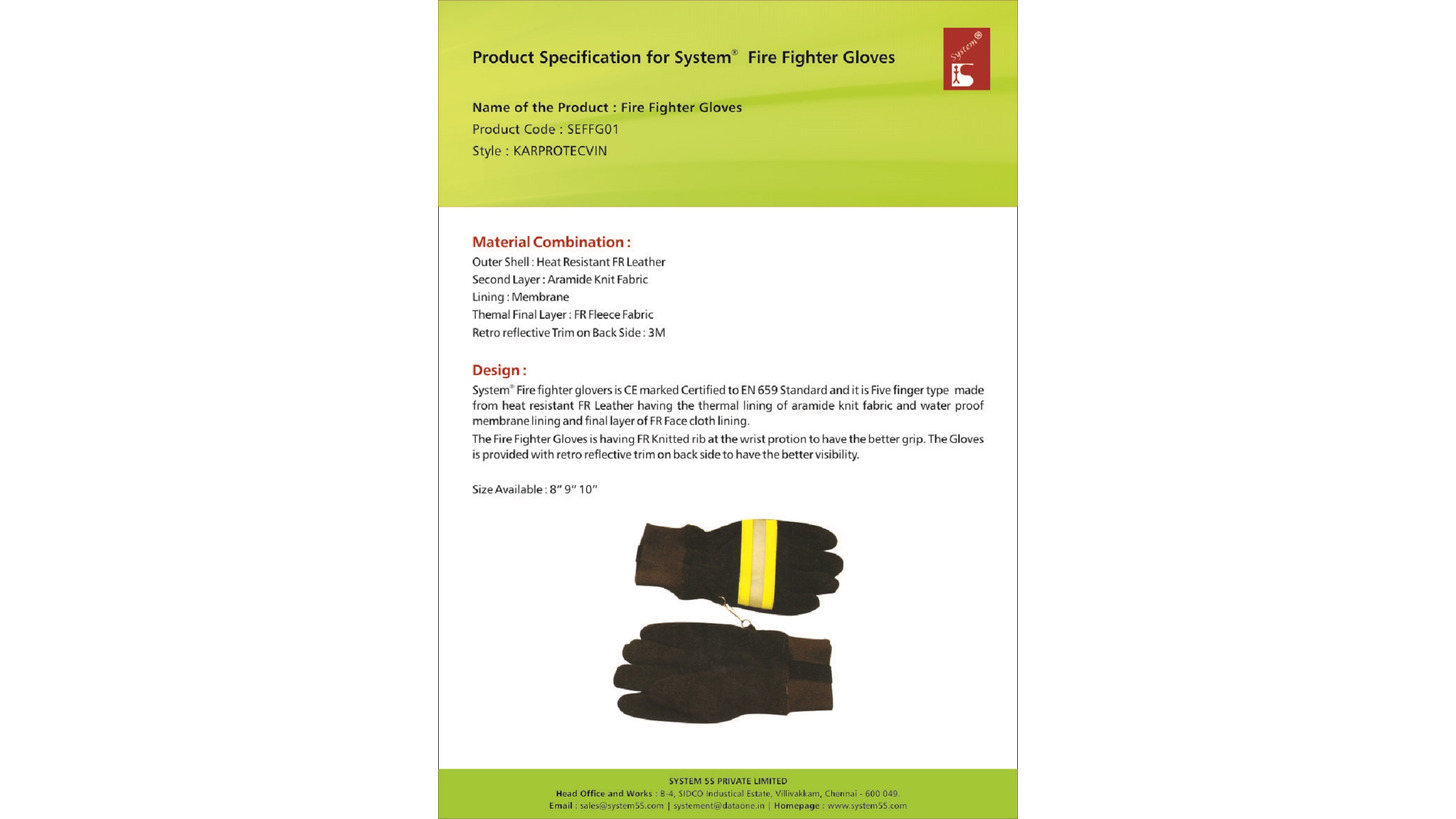 Logo Fire Fighter Gloves Model  KARPROTECVIN