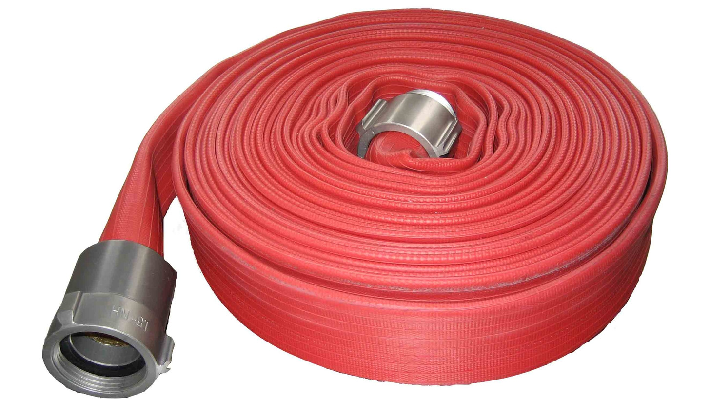 Logo Red Covered Hose