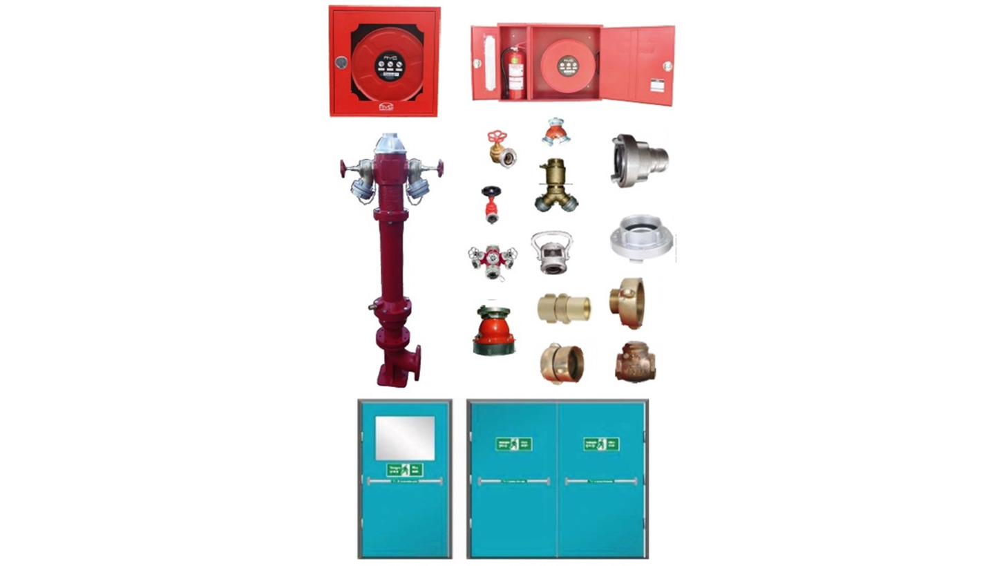 Logo FIRE CABINETS, DOORS, HYDRANDS, COUPLING