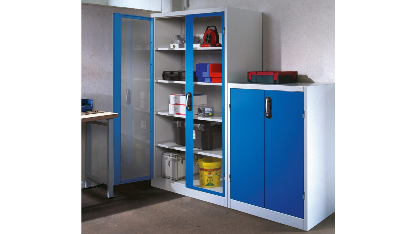 Logo Tool cabinets with viewing windows