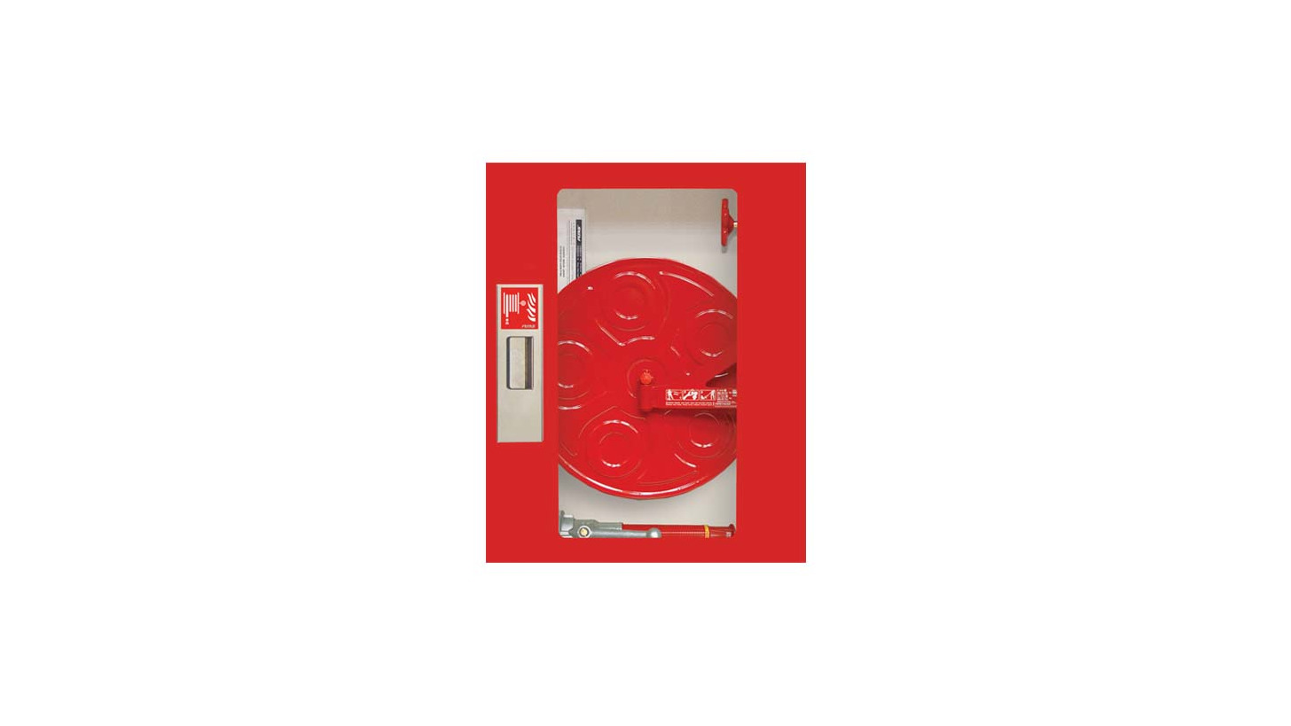 Logo Fire Cabinets with Flat Fire Hoses