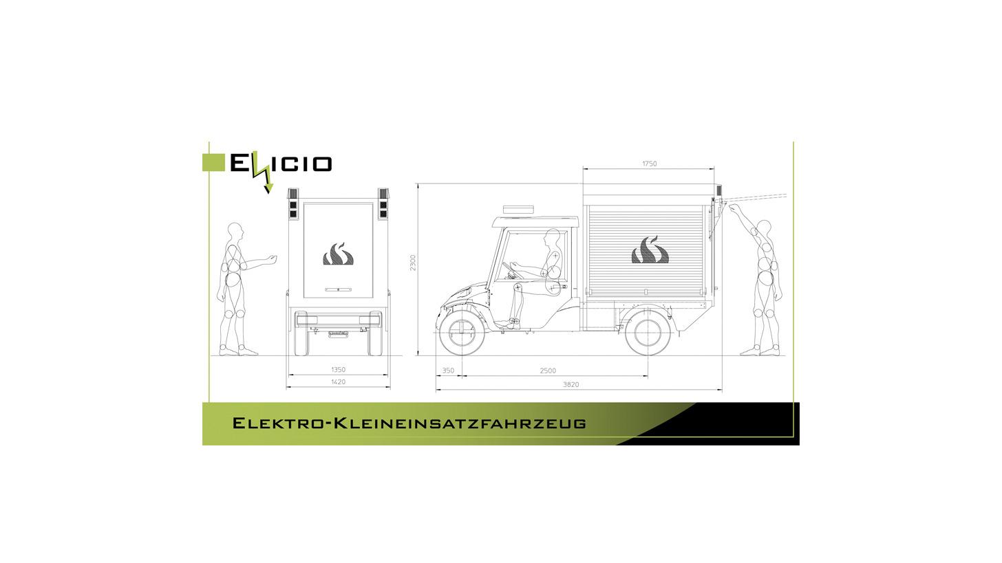 Logo Elicio - Elektro-Kleineinsatzfahrzeug