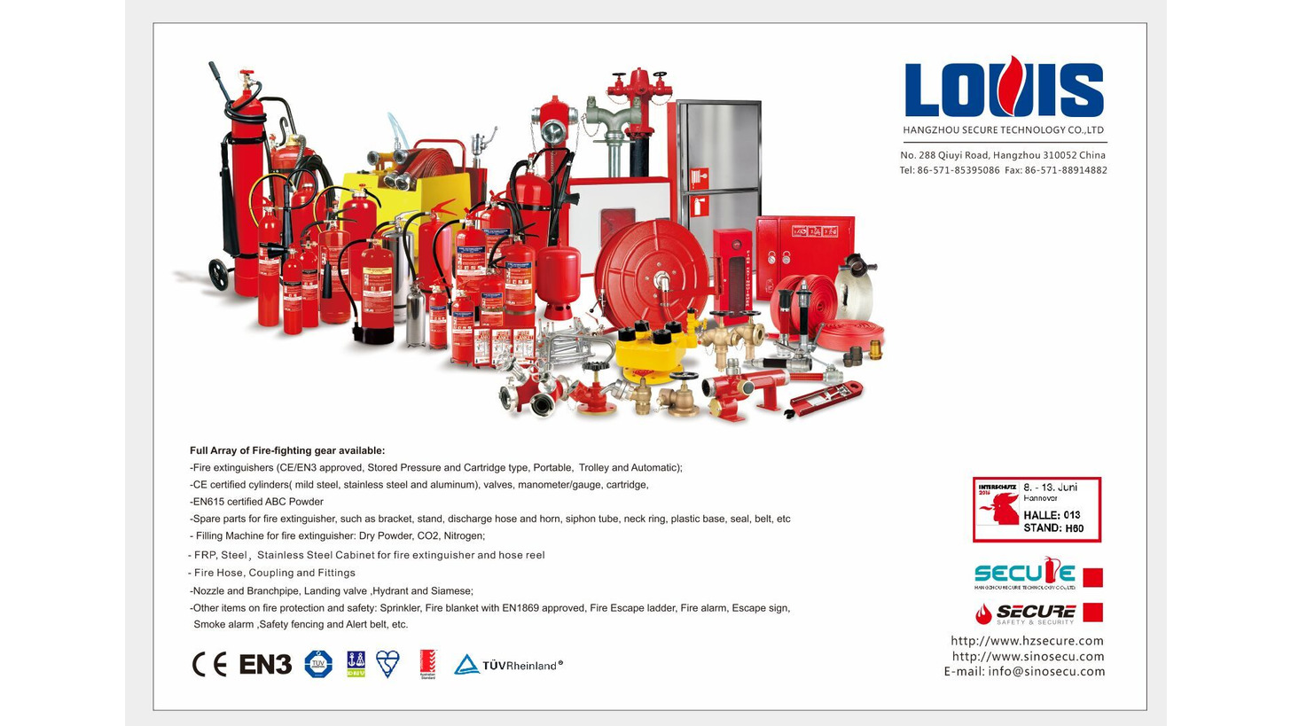 Logo Full array of fire fighting gears