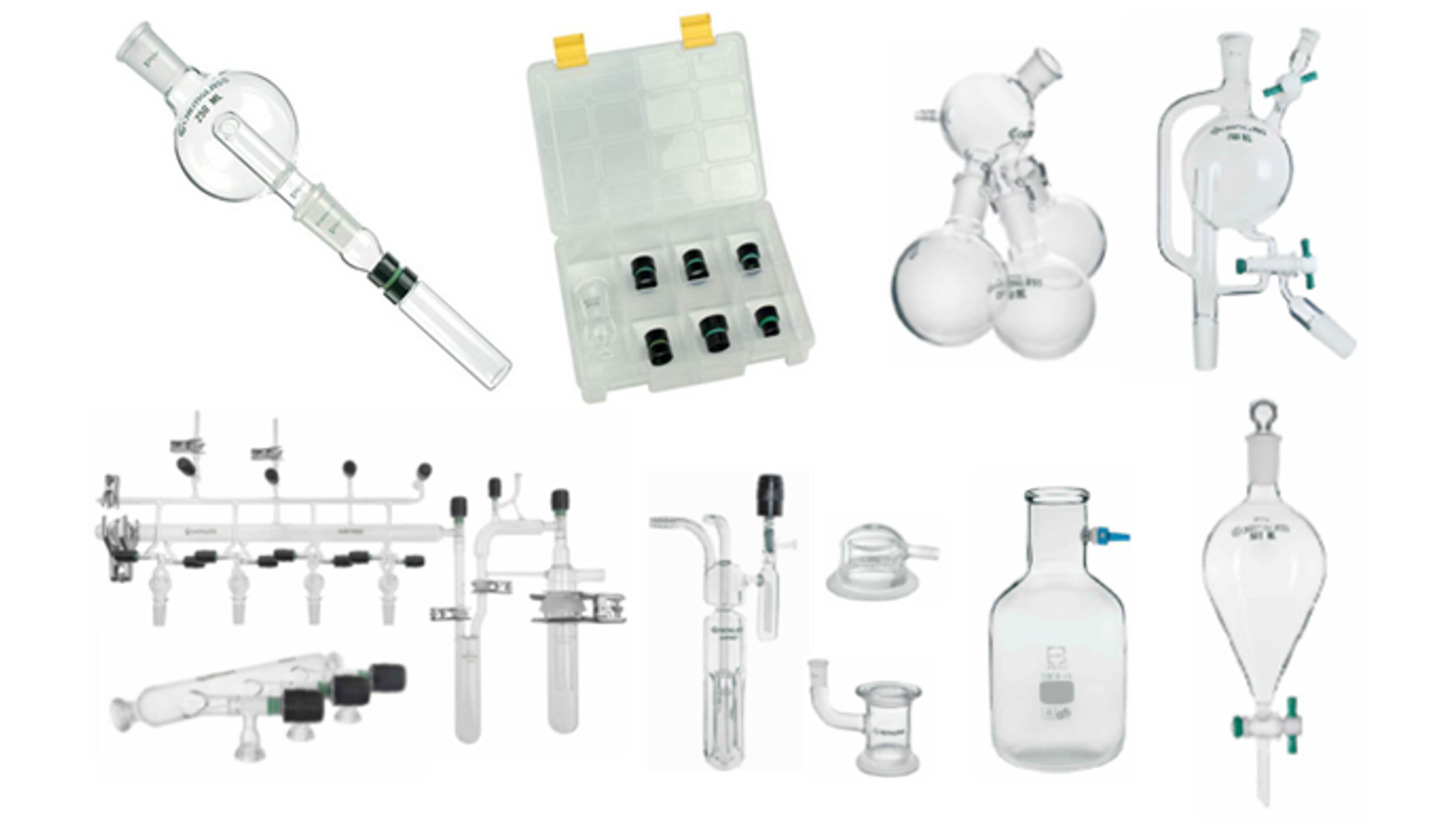 Logo Evaporator Adapter and Chemistry Glass