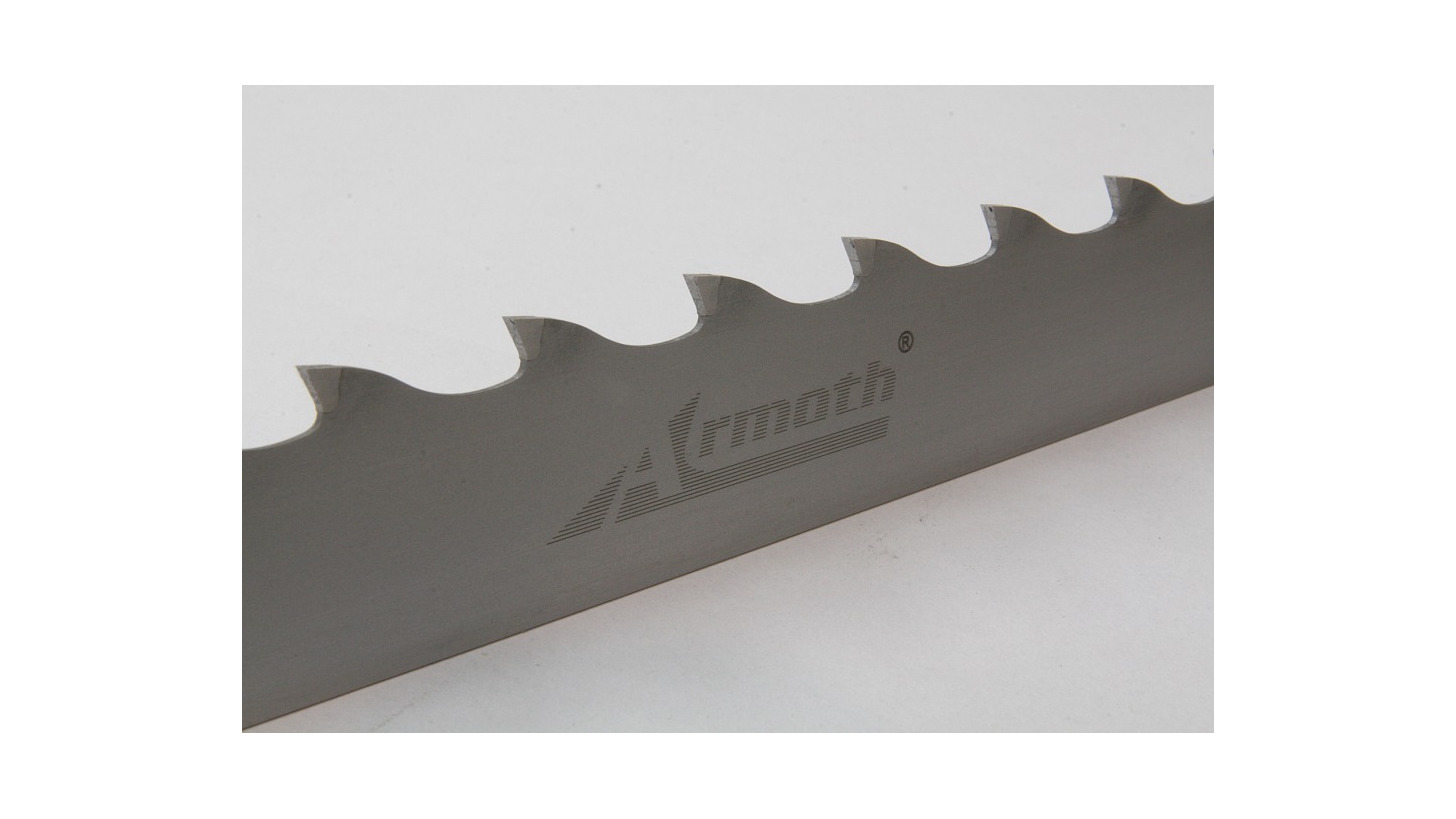 Logo Bandsaw blade with ground tooth and cobalt alloy tip - narrow Armoth