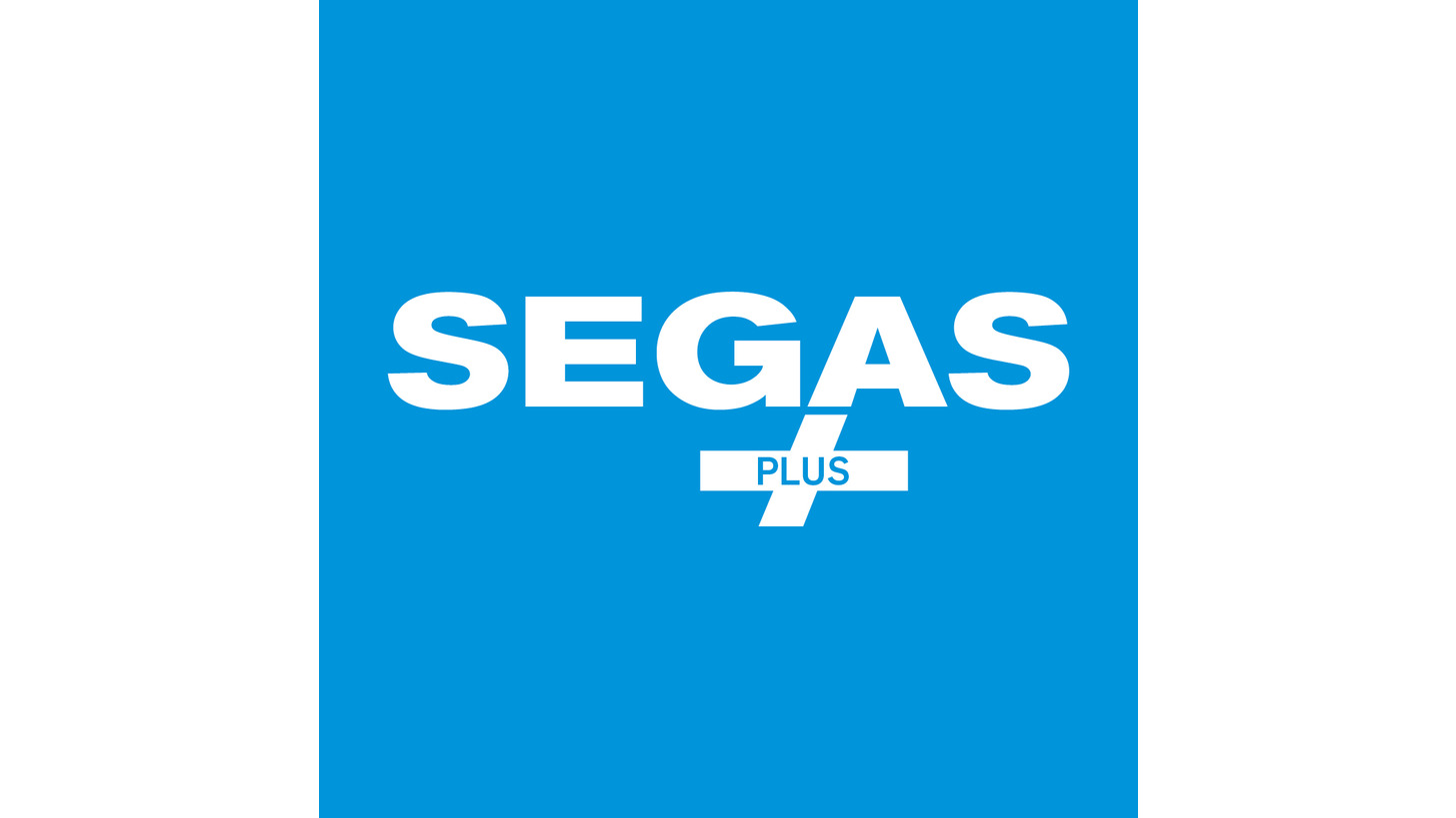 Logo SEGAS-PLUS - ÜBERDRUCKANLAGEN