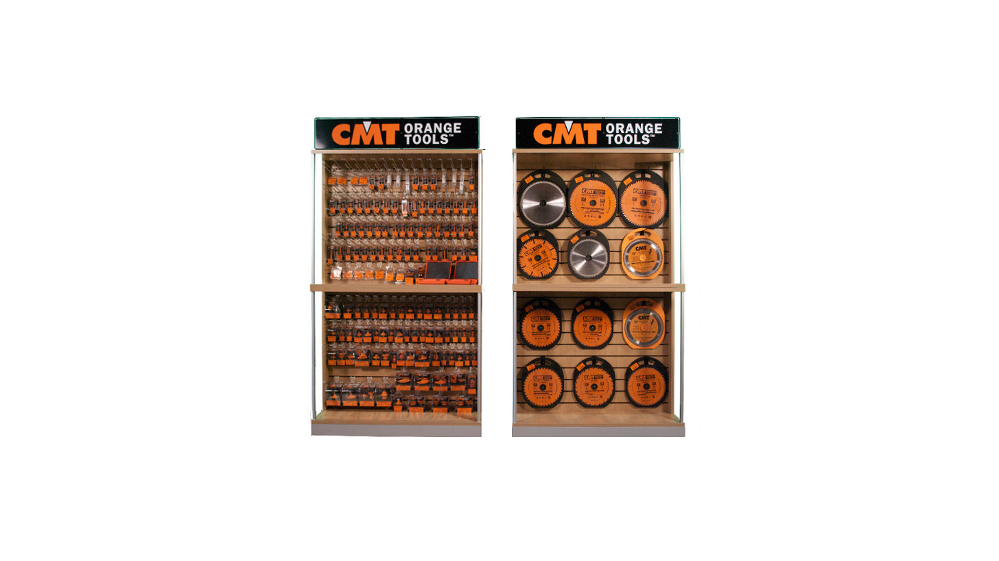 Logo Display cabinets for retailers
