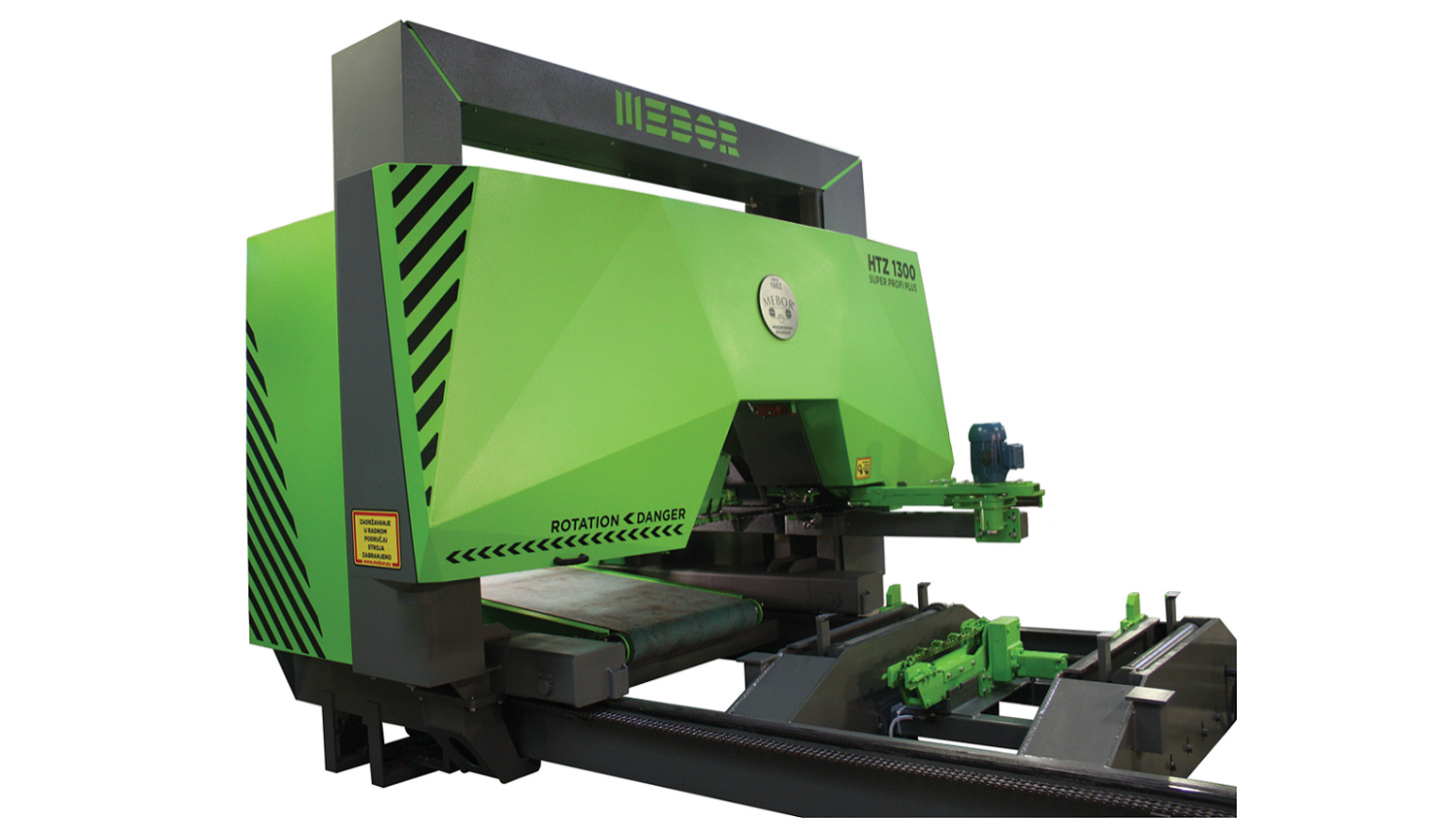 Logo Log band saw, horizontal,MEBOR HTZ 1300+