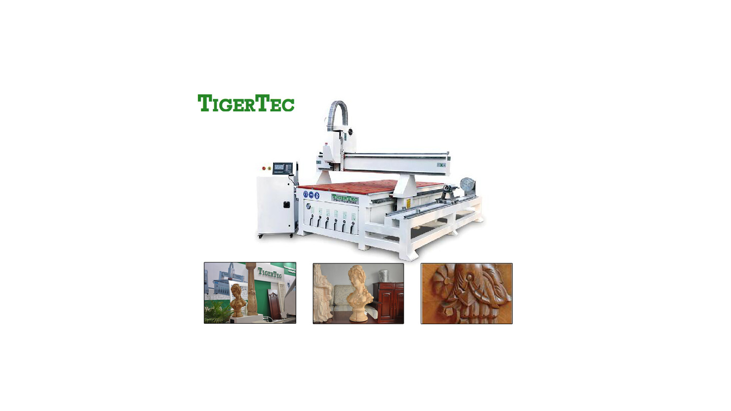 Logo CNC ROUTER TR408 with rotary axis