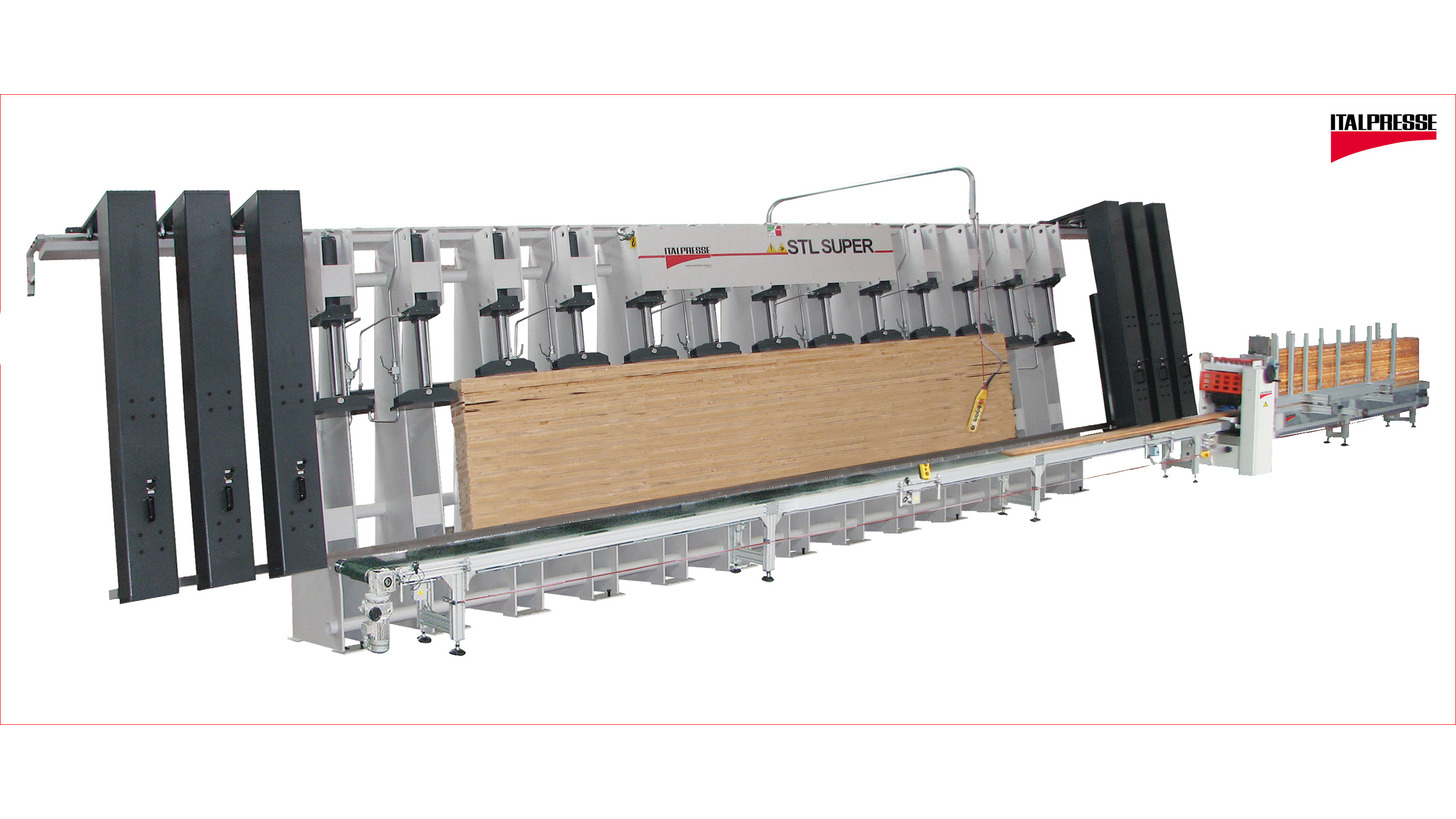 Logo Vertical edge jointing gluing machine STL