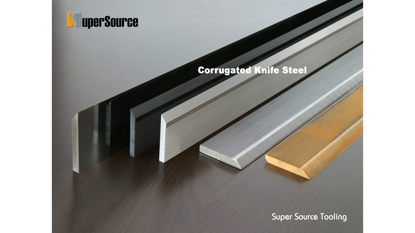 Logo Corrugated Knife Steel