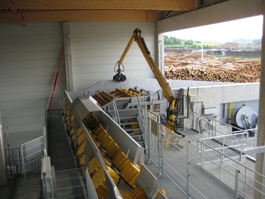 Logo Conveying systems for bars and long logs